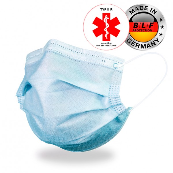 Medical Face Mask - 50 pieces - Made in Germany